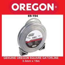 Trimmer Line Genuine Oregon Square Gatorline - 3.3mm X 15m FREE SHIPPING