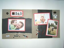Dad Father Scrapbook pages, 2 pages, Ready for 4 by 6 photos, premade, 12 by 12