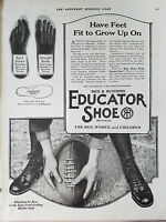 1920 Vintage EDUCATOR SHOE Men Women Children FOOTBALL Original Ad