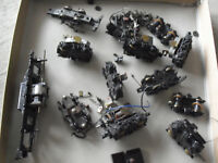Lot of Vintage HO Scale Locomotive Powered Truck Units and Parts Look