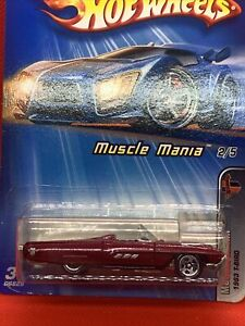 HOT WHEELS 2005 MUSCLE MANIA 1963 T-BIRD #102 RED VHTF SEALED UNOPENED