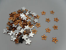 100 X 8MM TOPAZ RESIN ACRYLIC FLOWER RHINESTONE FLATBACK  DIY CRAFT GEMS