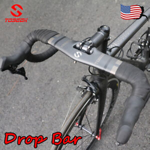 Carbon Fiber Road Bicycle Handlebar Racing Bike 31.8*400/420/440mm Drop Bar Matt