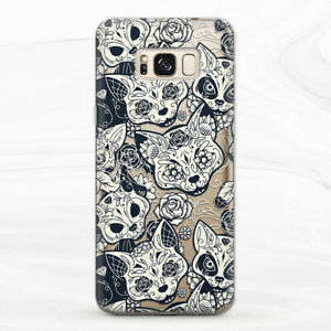 Case For Samsung S8 S9 S10 S20 Note 8 9 10 Horror Cat Occult Animal Flowers Goth