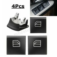 4Pcs Window Driver Switch Repair Button Cap For Mercedes ML GL R Class W164