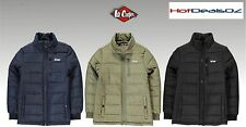 Brand New Lee Cooper Padded Jacket Junior Boys SZ XL(13) - Black or Khaki Brown