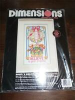 "DIMENSIONS Counted Cross Stitch Kit - HEARTS 'N RIBBONS BALLOON - 8"" x 14"""