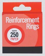 NUOVA Casella 250 Anelli di rinforzo di carta