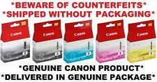 5x Genuine Ink cartridges PGI 5BK CLI 8 Canon Printer ip4300/ip4500/MP800
