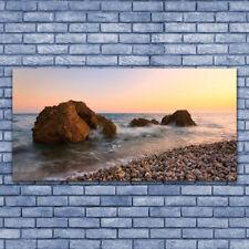 Acrylglasbilder Wandbilder aus Plexiglas® 140x70 Felsen Steine Meer Landschaft