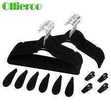 Ollieroo 50 Set Flocked Non-Slip Velvet Huggable Hangers Clothes Hangers