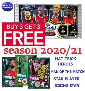 Match Attax 2020/21 Star Player Rising Star MOTM HTH FOILS **BUY 3 GET 3 FREE**