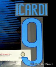 Inter Milan ICARDI 9 football shirt Nom/Numéro Set Home Player Taille 2014-15