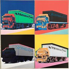 ☆ Andy Warhol ☆ Trucks ☆ ORIGINALE announcement CARDS ☆ 1986 ☆ ☆ REGALO