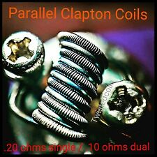 (8) Parallel Staged Heating Clapton Coils (Alien Rta Rba Rda) + Organic Cotton