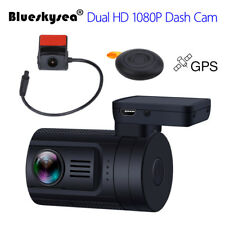 Blueskysea Mini 0906 Dual 1080P Lens Car Dash Camera Gps Dvr Cam Night Vision