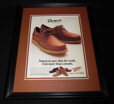 1987 Red Wing Dunoon Shoes 11x14 Framed ORIGINAL Vintage Advertisement