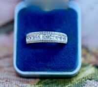 Art Deco Vintage Jewelry Ring Band White Sapphires Antique Jewellery 5 J1/2