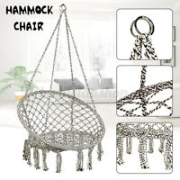 Hanging Macrame Hammock Chair Cotton Rope Swing Seat Home Patio Garden Outdoor