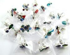 125 PCS 2000 GRAM 925 SILVER PLATED OVERLAY CLUSTER STONE RING WHOLESALE LOTS