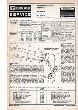 Service Manual Instructions for ITT Schaub-Lorenz Touring International 101