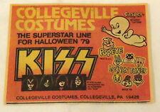 1979 KISS Halloween Costumes newsprint ad