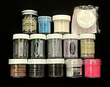 LOT OF 14 - ASSORTED EMBOSSING POWDERS - STAMPIN UP, STAMPENDOUS, POWDER KEG +