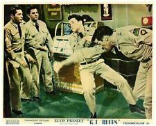 G. 'Blues' Elvis Presley Fighting En Barre Par Jukebox Original Lobby Carte 1960