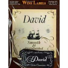 Mulberry Studios Personalised Wine Label David - NEW - WL041