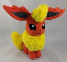 "Pokemon Flareon Eevee Plush Orange Yellow 9"""