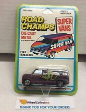Ford Econoline Van * PURPLE * Super Vans Road Champs Die Cast * E9