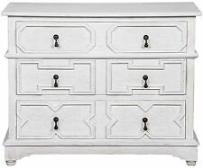 "40"" Long Seymour Dresser WH Solid Mahogany White Wash Finish"
