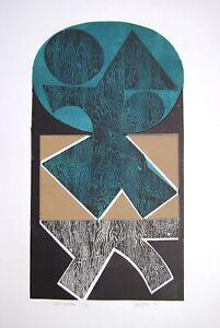 Peter Green Blue Spectrum, 1968 Signed Original Woodcut Print
