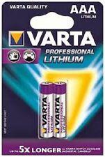 VARTA 6103 Lithium-Batterien Professional Micro AAA 1,5V 2er-Blister 1100 mAh