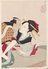 SHUNGA ukiyo-e ESTAMPE JAPONAISE AUTHENTIQUE érotique - japan woodblock