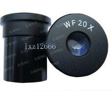 2pcs WF20X/10mm Wide Angle Microscope Eyepiece 23.2mm Mounting Size
