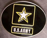 Military pewter belt buckle United States Army logo by Siskiyou NEW