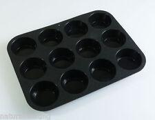 12 Cella MUFFIN tritare TORTE CROSTATE CUPCAKE IN SILICONE piatti da forno torte da forno stampo pan