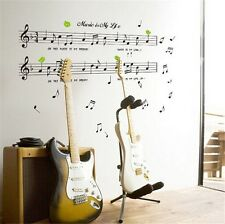1pcs Removable Music Note Vinyl Wallpaper Wall Sticker Decal Decor DIY