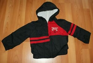 Vintage NBA Official Product Chicago Bulls Boys 4T Windbreaker Jacket Hooded