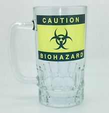 Caution Biohazard Funny Warning  Drinking Novelty Pint Beer Glass Funny Stein