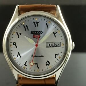 OLD VINTAGE SEIKO 5 AUTOMATIC 6309A JAPAN MENS DAY/DATE WATCH 473a-a237456-9