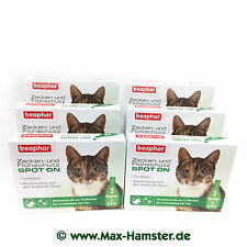 Beaphar Zecken-& protection Anti-puce Spot-on pour Chat 3 Pack 9