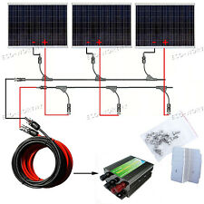 750W Solar Panel Kit 3x 250W Solar Panel Charging 24V Caravan Home Camping RV