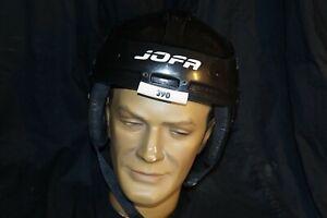 BLACK JOFA Hockey Helmet 390 Size 55/62 SR Great Condition Made in Sweden