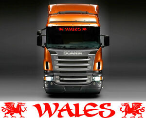 Wales Truck cab sticker dragons style  inside for cab windscreen glass