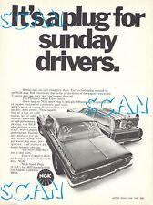 1970 NGK Spark Plug Magazine Ad 1964 Plymouth Belvedere Fury Super Stock Hemi