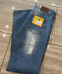14 Reg /& Husky Straight Fit Leg Stretch Details about  /LEE Boy/'s Jeans Size 10 12