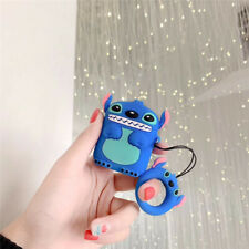 2019 3D Cartoon Blue Stitch Earphone Headset Cover For Airpods Charging Case