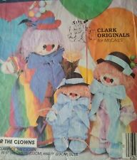Vintage McCall's Clarence the Clown Sewing Pattern #9357 3 Sizes
